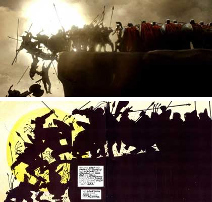300 - Comic vs. Film