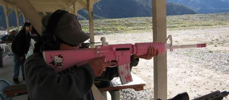 Hello Kitty M16 rifle