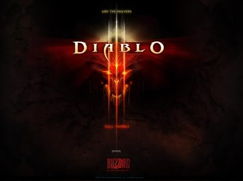 Diablo 3 themed splash page - Blizzard.com