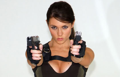 Alison Carrol as Lara Croft
