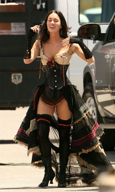 Megan Fox on Jonah Hex Set 2