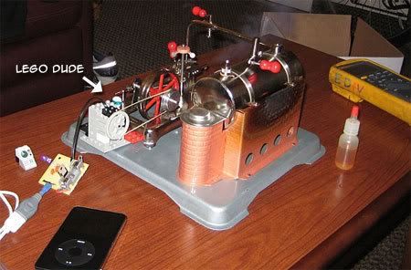 Steam-Powered iPod Charger
