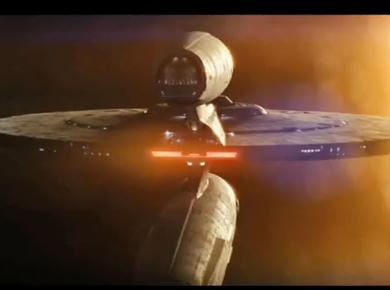 Enterprise, lens flare