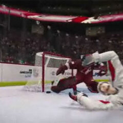 NHL 2K10: Shoot while down on the ice teaser